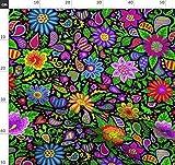 Bohemien, Boho, Blumen, Paisley, Herzen, Hippie Stoffe -