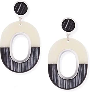 Ebony and Ivory Drop Earrings