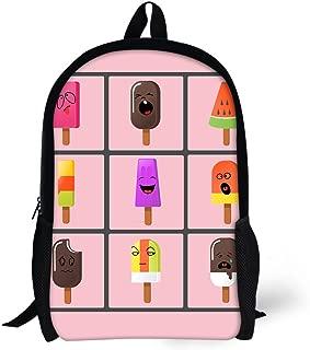 Cartoon Ice Cream Backpack for Girls School Bag for Teens Bookbag Child Daypack