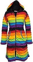 Shopoholic Fashion WomenFleece Lined Knee Length Rainbow Long Hippie Jacket