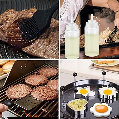 61pwbSSWA4S. SL500  - Spatel-Set Grillzubehör BBQ Tool Kit - Hochleistungs-Edelstahl-Spatel-Grill-Set in professioneller Qualität - ideal zum Kochen von Camping und Heckklappen