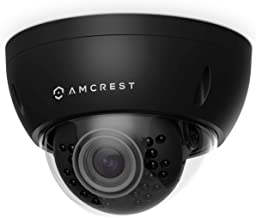 Amcrest ProHD Outdoor 3 Megapixel POE Vandal Dome IP Security Camera - IP67 Weatherproof, IK10 Vandal-Proof, 3MP (2048 TVL), IP3M-956E (Black)