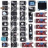 UMLIFE 38 in 1 Sensor Modules Kit, 37 in 1 Sensor Module + 0.96'' 4PIN OLED for Arduino Raspberry Pi Project Super Starter Kits for UNO R3 Mega2560 Mega328 Nano Raspberry Pi 3 2 Model STM32