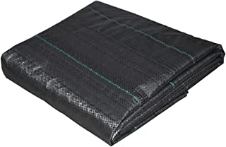 Anpatio 4 ft. x 50 ft. Heavey Duty Weed Barrier Black Durable Polypropylene Woven Stabilization Landscape Fabric High Water Permeability Garden Ground Cover Tarp