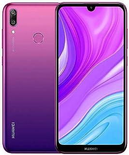 هواوي واي 7 برايم 2019 اصدار جديد (4+64 جيجابايت) دي يو بي - ال اكس 1  ثنائي، لون بنفجسي اورورا 51095BRK