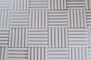 white acoustic foam panels