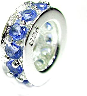Sterling Silver Simulated Birthstone European Style Bead Charm