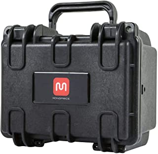 Monoprice Weatherproof/Shockproof Hard Case - Black IP67 Level dust and Water Protection up to 1 Meter Depth with Customizable Foam, 8 x 7 x 6 in