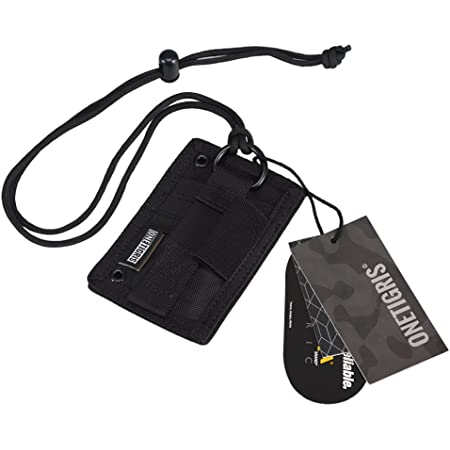 A-Parts Tactical ID Card Holder Hook /& Loop Patch Badge Holder Neck Lanyard Key Ring Credit Card Organizer