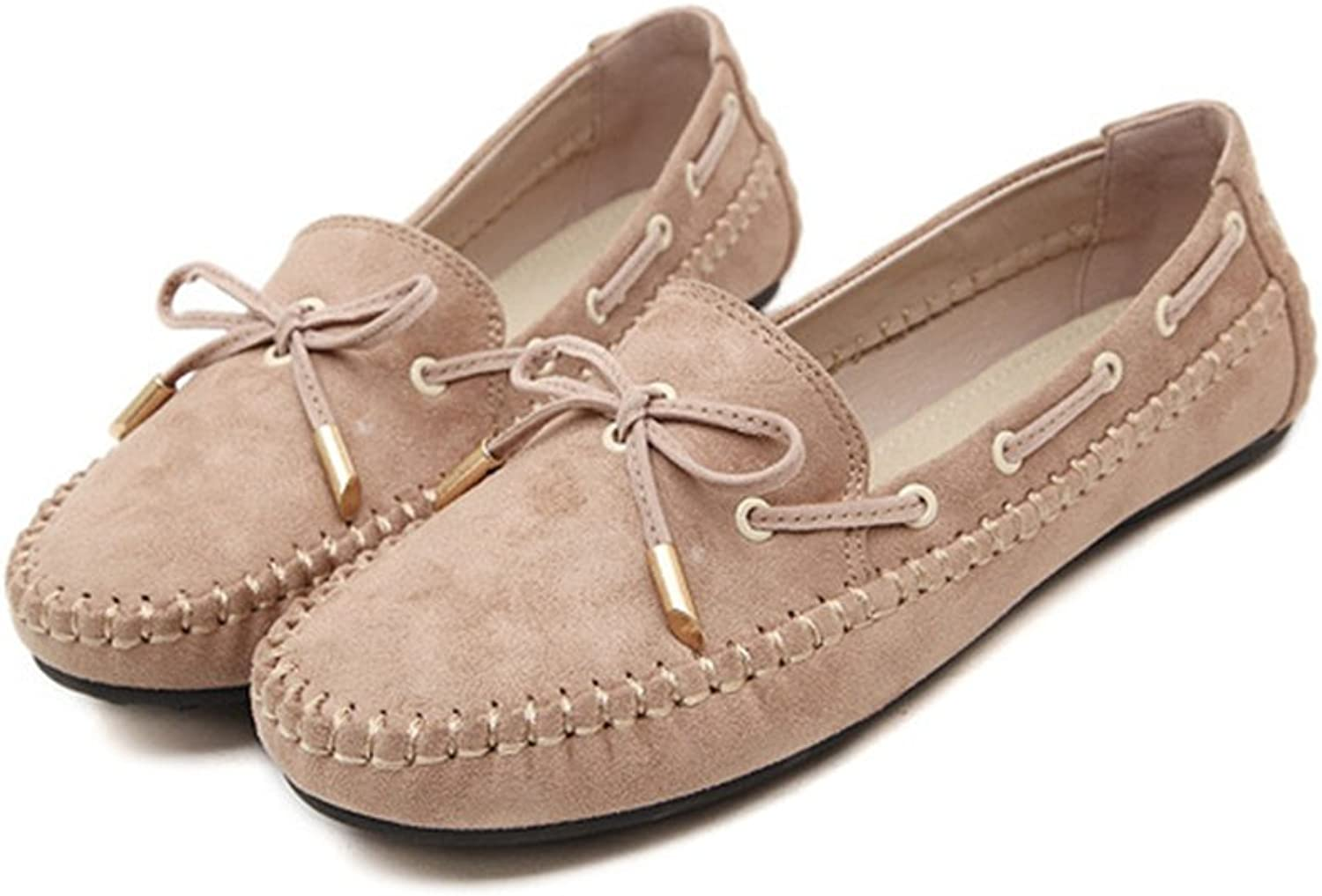 Duberess Women's Mule shoes Anti-Slipping Driving Style Moccasin Slip-on Flat Loafer shoes