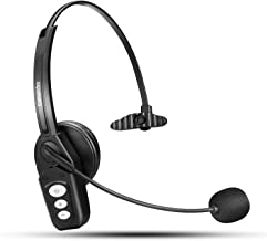 Bluetooth Headset V5.0, Pro Wireless Headset High Voice Clarity with Noise Canceling Mic..