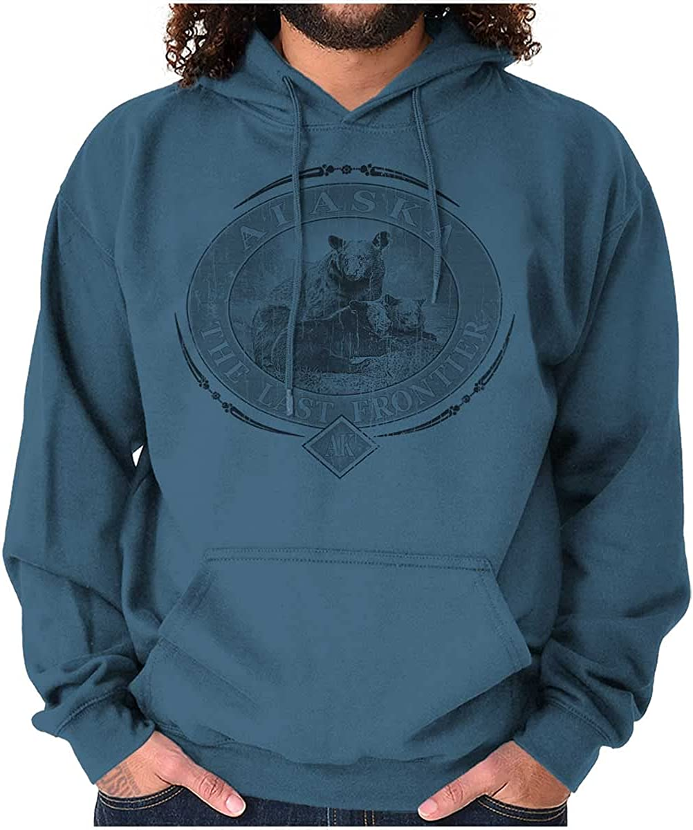 Alaska AK Rugged Mountain Bear Hoodie Sweatshirt Women Men