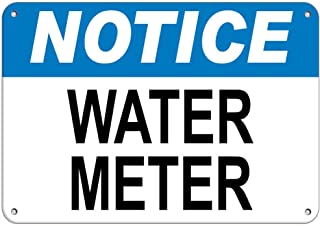 Notice Water Meter Hazard Sign Hazard Labels Vinyl Sticker Decal 8