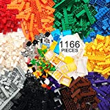 EP EXERCISE N PLAY Kit de Briques de Construction 1166 pièces avec Roues, pneus, essieux, fenêtres, Portes et Feuilles, Fleurs, Herbe(Multicolore-1, 1166)