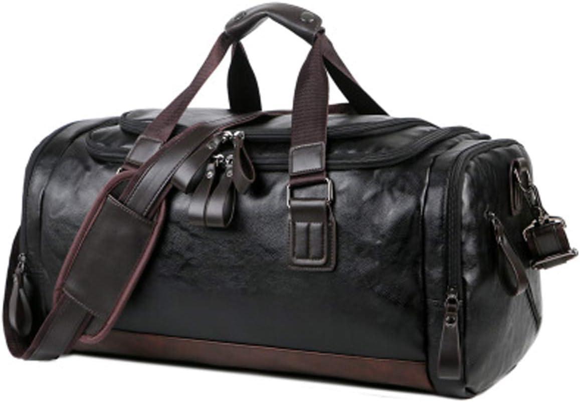 Vohoney Bolsa de deporte, bolsa de gimnasio, resistente al agua, bolsa de viaje, bolsa de entrenamiento, con compartimento para zapatos, para hombre y mujer, gran capacidad