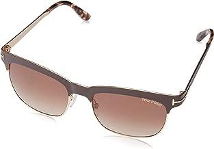 Tom Ford Sunglasses - TF437 Elena 48F - Dark Brown/Gold 54mm