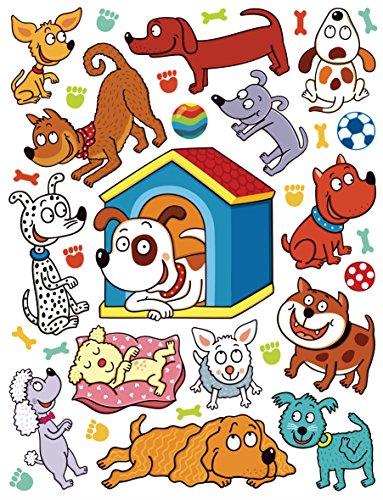 AG Design Sticker Mural Animaux Domestiques k1050 Sticker Mural, polymère Film Multicolore 65 x 0,02 x 85 cm