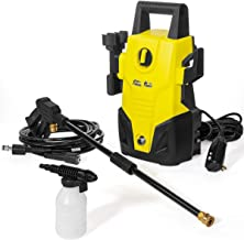 XtremepowerUS Mini Electric Pressure Washer Hose Lightweight Jet 1300 PSI 1.2 GPM Sprayer Cleaner Machine Soap Dispenser (Renewed)