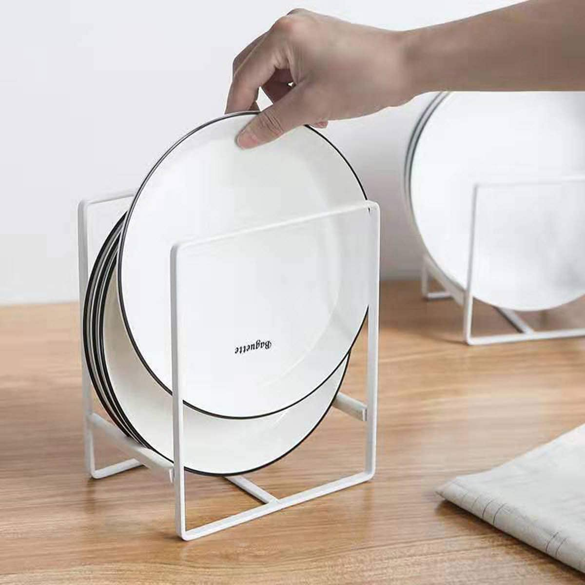 Plate Holders Max 47% OFF Organizer for Kitchen Storage Dish Dis Dying Metal Austin Mall