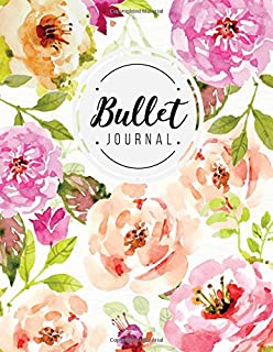 Quarterly Planner With Blank Yearly & Monthly Calendar, and Habit Tracker: 120 Dot Grid & 15 Lined Pages, Floral; Professi...