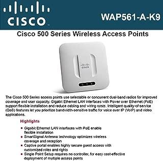 Cisco Systems WAP561-A-K9 WAP561 Wireless-N Dual Radio Selectable Band Access Point with Single Point Setu
