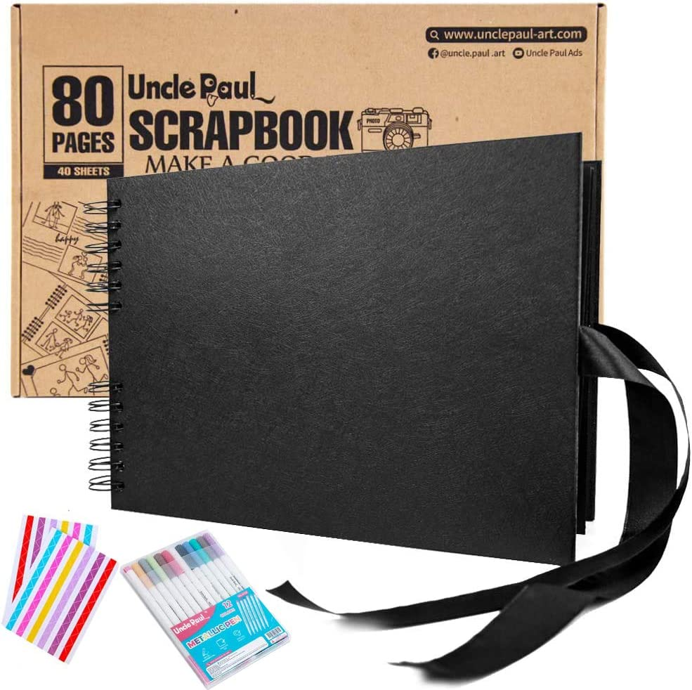 Scrapbook Albums - 80 New mail order Memphis Mall Pages Photo Inch Al 11.7x8.3 DIY