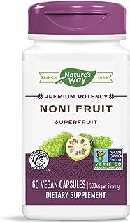 Nature's Way Premium Potency Standardized Noni Fruit, 500 mg per serving, 60 Capsules