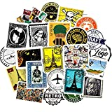 /Set de dibujos animados sellos pegatinas de viaje graffiti pegatinas para el refrigerador motocicleta monopatines portátil equipaje guitarra 50 unids