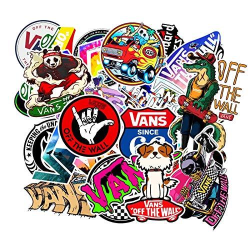 XZZ Logotipo de la Moda Vans Off The Wall PVC Pegatinas Niños Juguetes Decoración para Coche Laptop Pad Teléfono Tronco Guitarra Bicicleta Motor 100 Unids/Lote