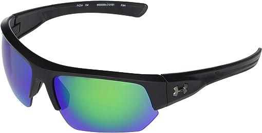 Satin Black Frame/Black Rubber/Gray/Green Mirror Lens