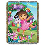 Nickelodeon's Dora the Explorer, 'Celebrate Dora' Woven Tapestry Throw Blanket, 48' x 60', Multi Color