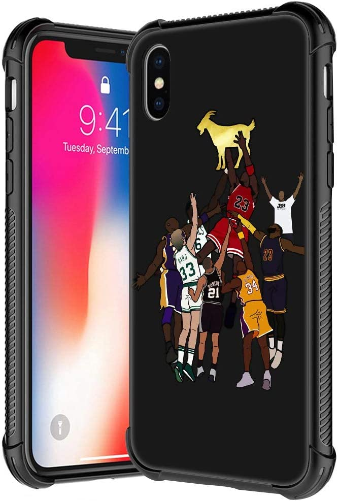 iPhone XR Case,Basketball Player 35 Pattern Tempered Glass iPhone XR Cases for Boys Man,Soft TPU Bumper Desgin Anti-Scratch Shockproof Cover Compatible with iPhone XR