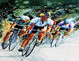 TISAGUER DIY Kit per Diamond Painting 5D,tour in francia sport artista ciclismo bici da corsa bici bici da corsa biciclette bici bicicletta,Pittura Diamante Kit,Ricamo con Strass