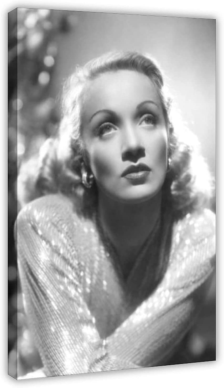Famous German Long Beach Mall 2021 autumn and winter new Actress Marlene Dietrich Pos Canvas Star 10 Poster