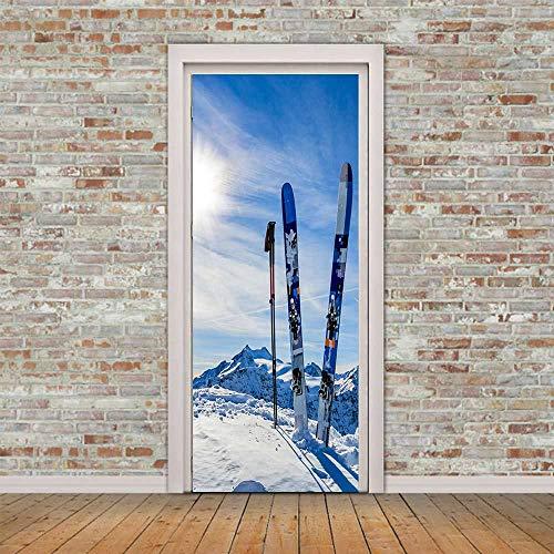 BVCK Türtapete Tür Snowboard Bretter Fototapete