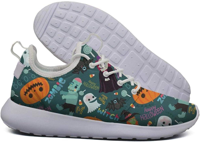 Womens Happy Halloween Zombie Flex Mesh Roshe 2 Lightweight Print Cross-Country Running shoes