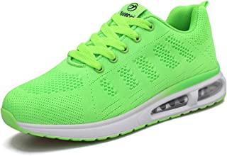Youecci Mujeres Zapatillas de Deportivos de Running para Mujer Gimnasia Ligero Sneakers Malla Transpirable con Cordones Za...