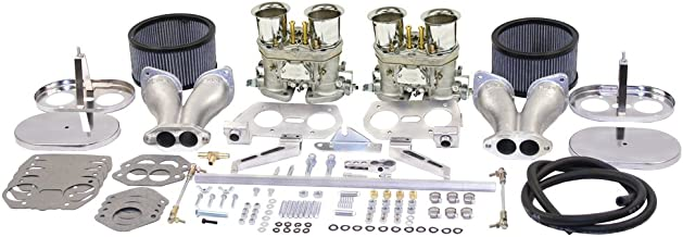 EMPI Dual 40 HPMX Carb. Kits With Chrome Air Cleaners, Compatible With Type 1 47-7317