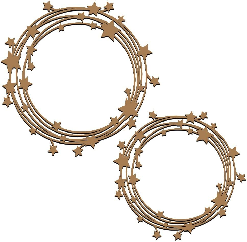 Special sale item Stars in The Universe Frames Laser Memphis Mall - Cut 2 Chipboard Piece Set
