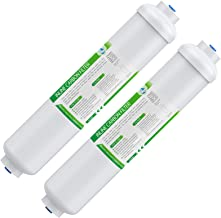 """Inline Water Filter, Membrane Solutions 10"""" X 2"""" with 1/4"""" Quick-Connect.."""