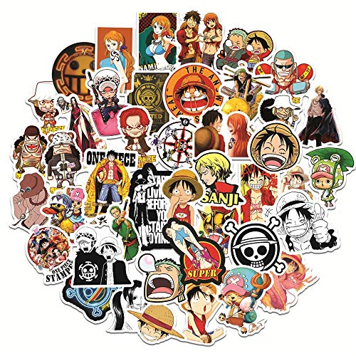 XINSHENG One Piece bauble 50pcs Anime ONE PIECE Luffy Stickers For DIY Skateboard Snowboard Suitcase Scrapbooking Laptop Backpack Car Decal Stickers