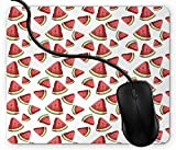 gaming mouse pad tappetino organic life d fruit slices vegan choices tropical summer per il mouse in gomma antiscivolo, rettangolo mouse pad per computer portatile 1x1594