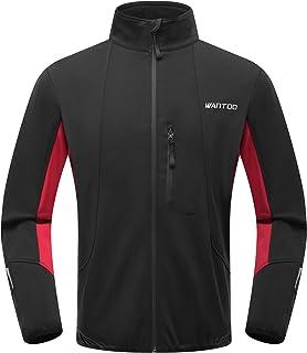 Wantdo Men's Reflective Running Soft Fleece Jacket Waterproof Breathable Windbreak