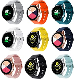 RIOROO Compatible for Samsung Galaxy Watch Active Bands/Active 2 Bands 40mm/42mm/44mm,Women Men Soft Slim Silicone Wristba...
