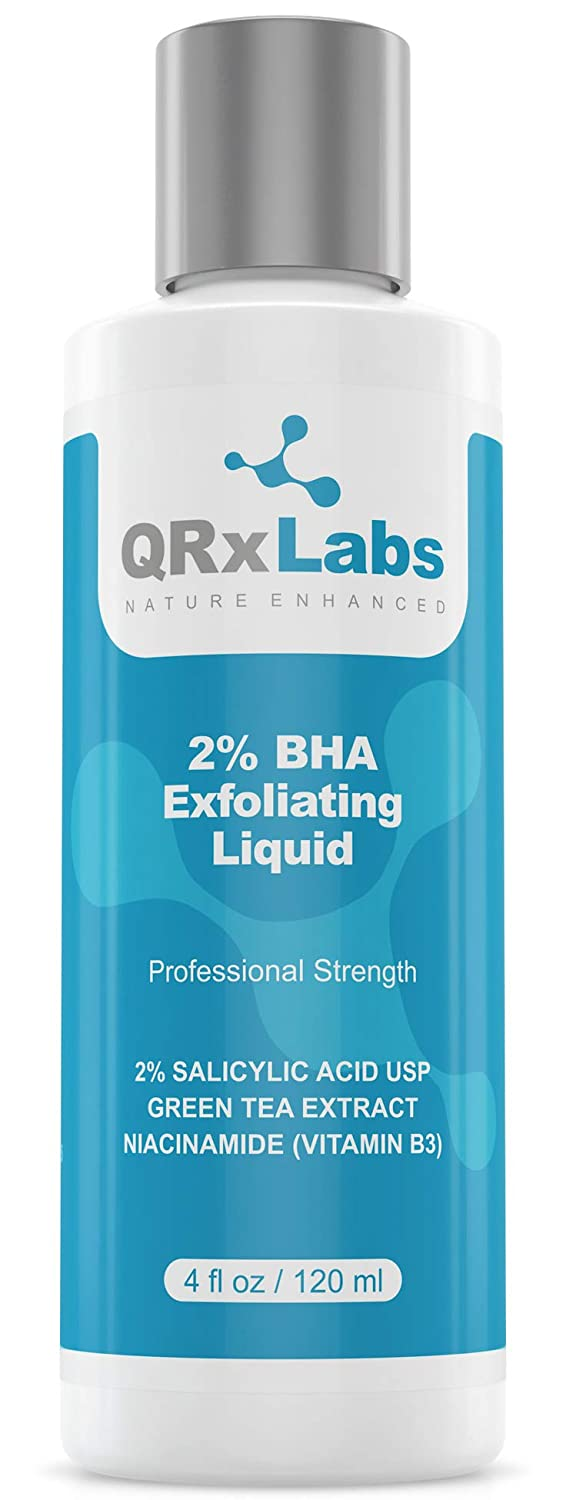 NEW! 2% BHA Exfoliating Liquid - Skin Perfecting Facial Exfoliant with Salicylic Acid, Niacinamide and Green Tea Extract - Perfect for Blackheads, Enlarged Pores, Wrinkles & Fine Lines - 4 fl oz