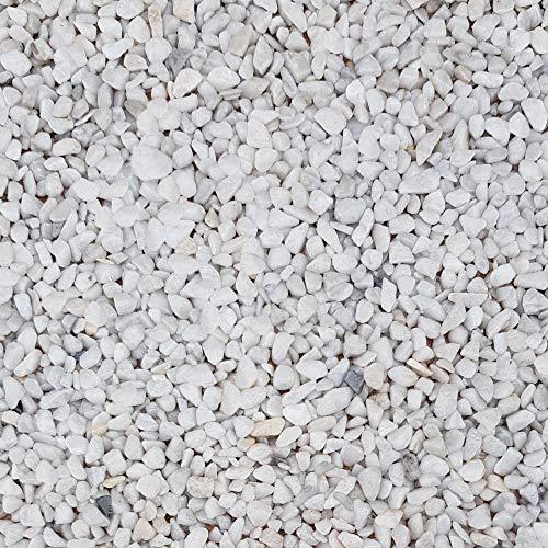 Piedras decorativas gravilla jardín grava color Blanca Bianco Carra 25Kg