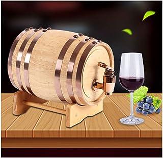 Tonneau à vin en bois Tonneau de chêne, 0.75 L / 3 L / 5 L / 10 LTonneau de vin Convient pour la vinification ou pour le s...
