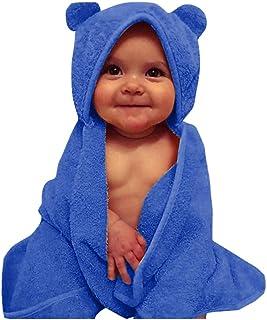 DOLYKUI Toddler Boys&Girls Solid Hooded Flannel Bathrobes Towel Night-Gown Sleepwear, Baby Fashion Autumn Winter Christmas...