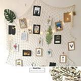 Goldbeing Foto hängende Anzeige Fischernetz Bilderrahmen Collage Fotorahmen Holzbilderrahmen mit