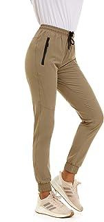 جوراب شلواری ساده و سریع خشک SMENG زنانه شلوار حمل بار جیبی زیپ دار